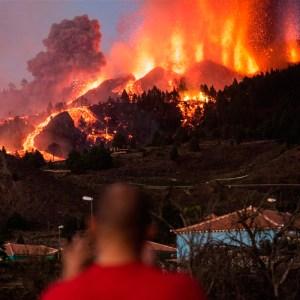 Imagen de la erupción volcánica en La Palma