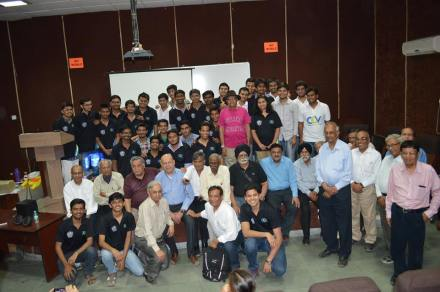 cev team with alumni of '70 batch