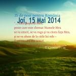 Zi de post pentru România, Joi 15 Mai 2014
