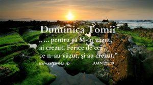 Duminica Tomii, Ioan 20.29