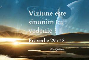Proverbe 29.18, Viziune sau vedenie