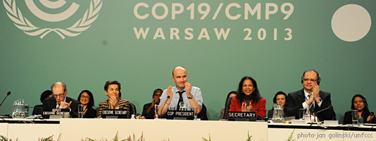 COP 19 dais