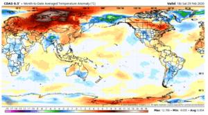 Major February global temperature drop reveals the real climate control knob 2
