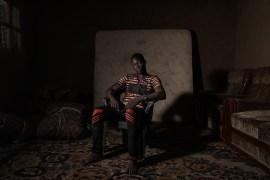 Africa, Chad, 13th October 2018. Abdullaye Tidjani, aged 26, Nigerian, ex Boko Haram fighter, forcefully enlisted in the ranks. He was part of the military wing of the Islamist group for over two years. Following one of the numerous massacres perpetrated by the terrorists, he decided to become a deserter, and fled with his wife and son. Africa, Ciad, 13 Ottobre 2018. Abdullaye Tidjani, 26 anni, Nigeriano, ex-combattente di Boko Haram, che è stato arruolato con la forza e ha fatto parte dell'ala militare del gruppo islamista per più di due anni. Dopo l'ennesima strage commessa dai terroristi ha deciso di disertare scappando con la moglie e il figlio.
