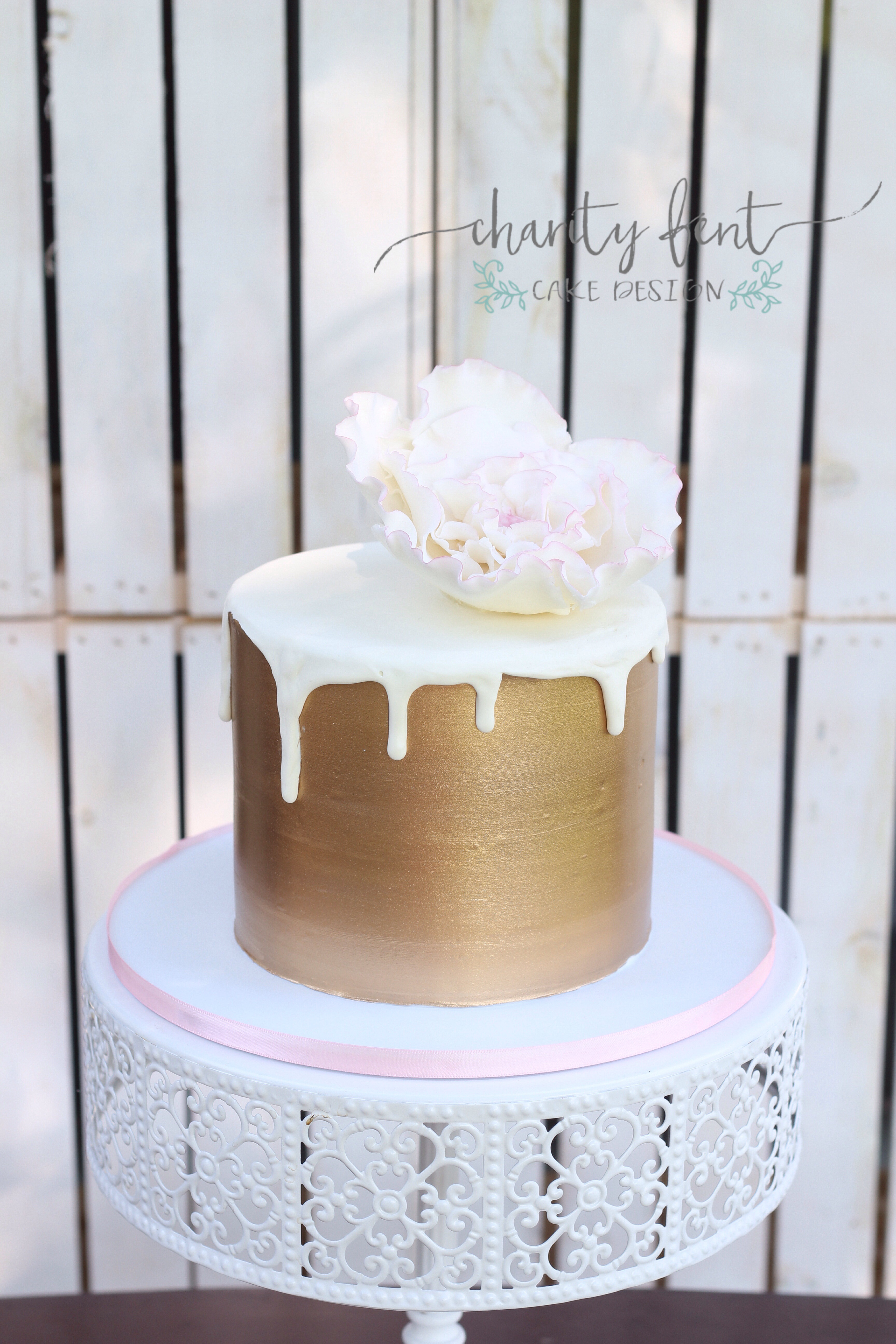 Simple Cute Cake Charity Fent Cake Design