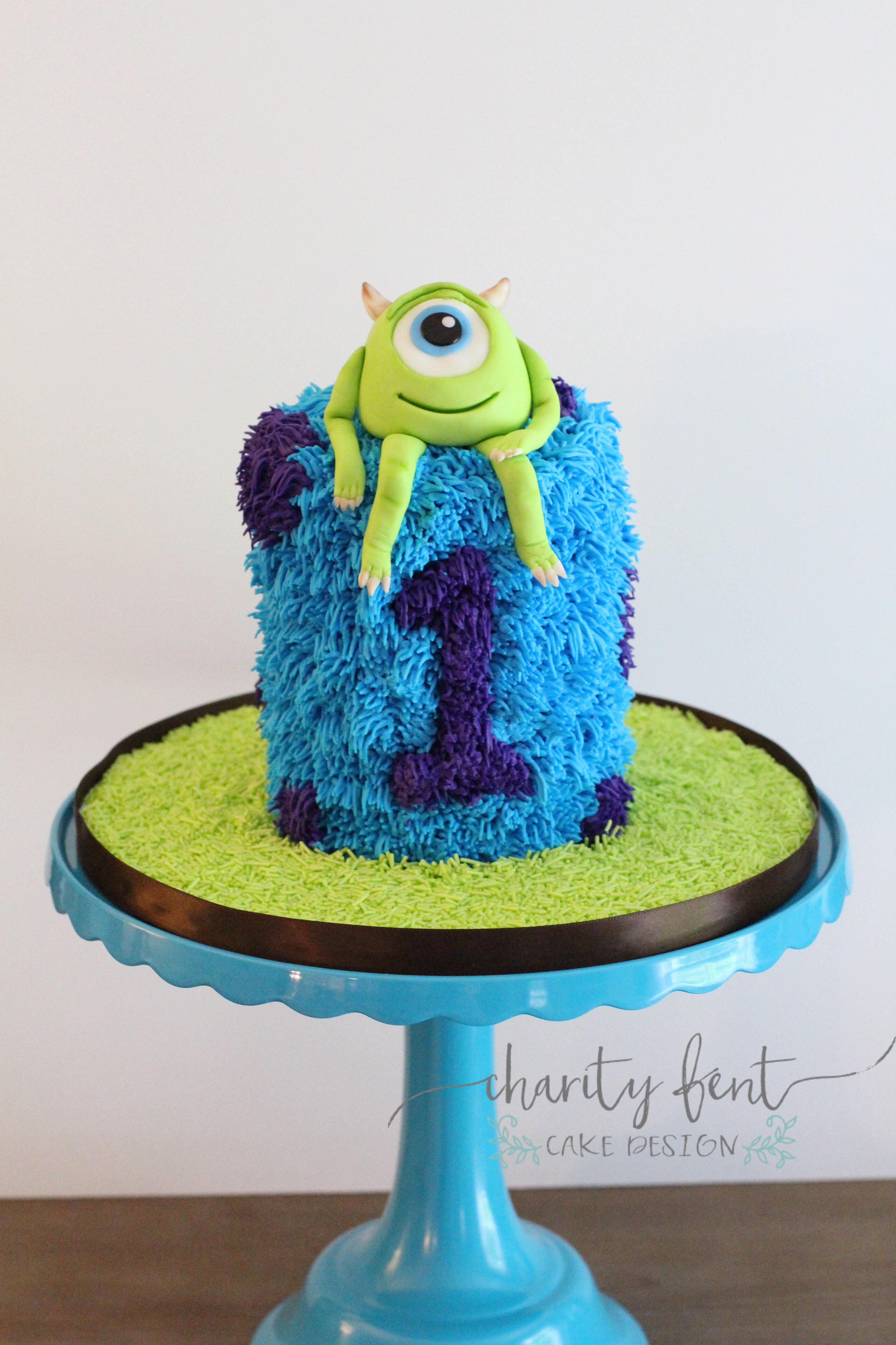 Monsters Inc 1st Birthday Charity Fent Cake Design