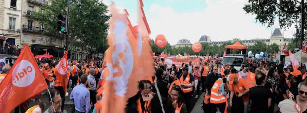 22 mai 2018 - La CFDT-CULTURE dans le cortège parisien