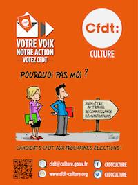 CFDT-CULTURE: pourquoi pas moi? Elections 2018. Vignette