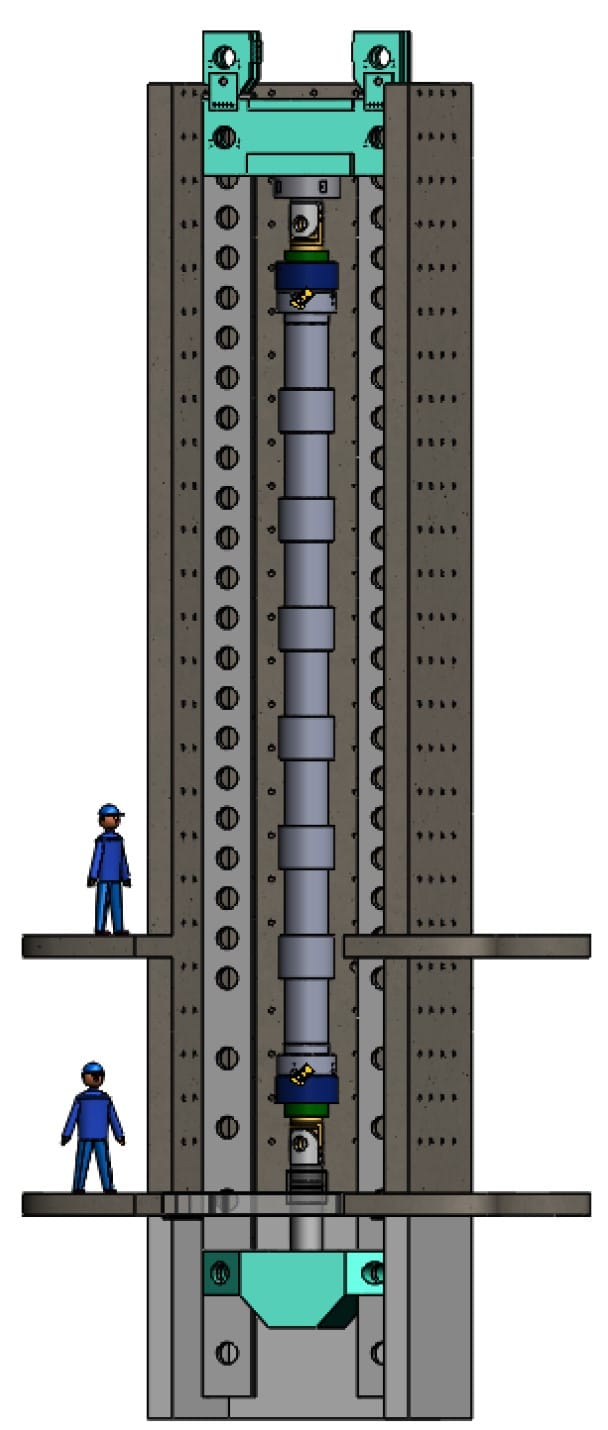 Solidworks rendering of C-FER's Tubular Testing System with non-welding pipeline repair technologies