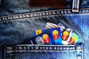 pocket with credit cards