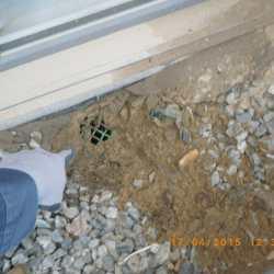 Pour drainage