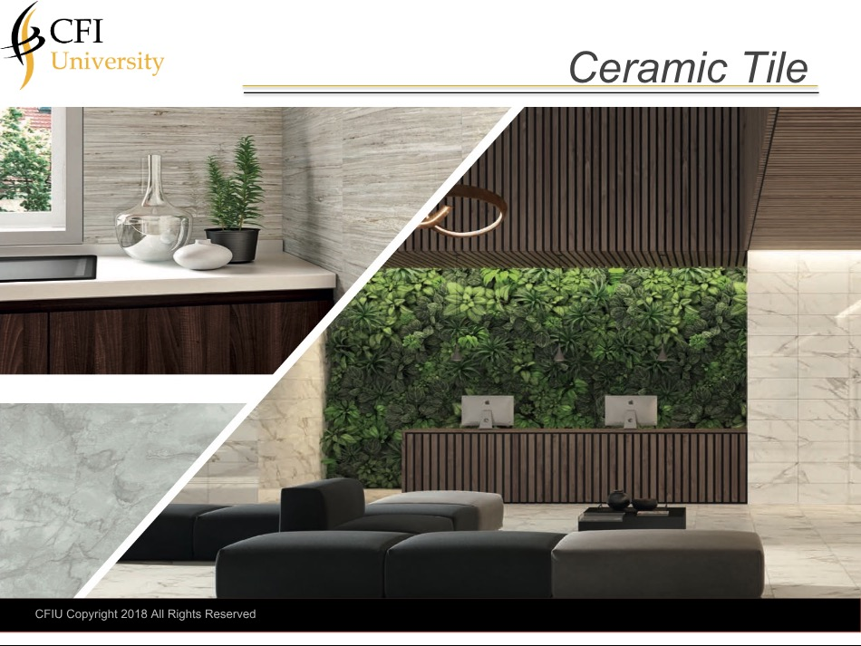 Ceramic Tile Course & Exam - Advanced Certification