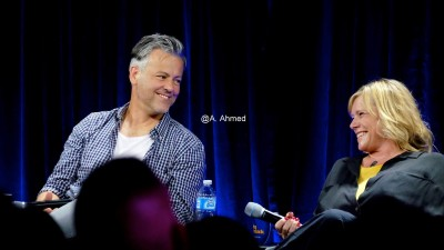 Rupert Graves and Sue Vertue at Nerd HQ Panel 2015. Photo copyright Annika Ahmed