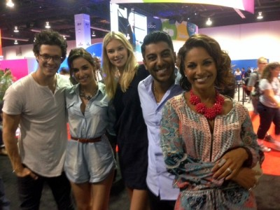 """Stitchers"" stars Kyle Harris, Allison Scagliotti, Emma Ishta, Ritesh Rajan and Salli Richardson-Whitfield.  Photo copyright Suzanne Philips/CFM"