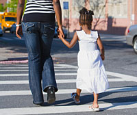 Pedestrian Safety - image of safe pedestrians