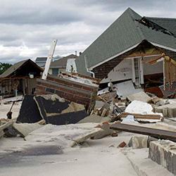 CFNJ Responds to Sandy - image of hurricane damage