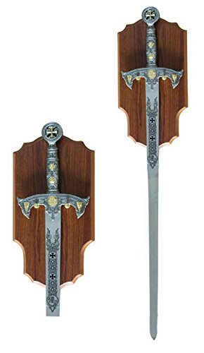 Knights Templar Long Sword and Wall Plaque