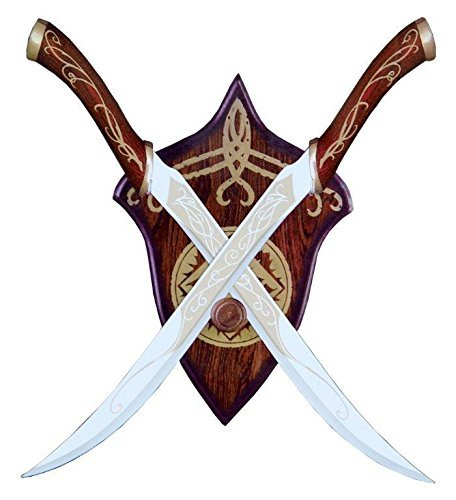 Lord Of The Rings Legolas Fighting Knives Red Elven Lotr Swords