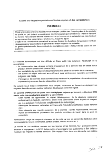 Accord sur la gestion prévisionnelle des emplois et des compétences (GPEC- 2019)