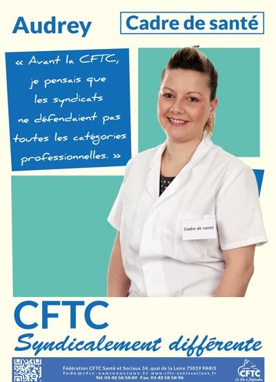 poster : Audrey, cadre de santé