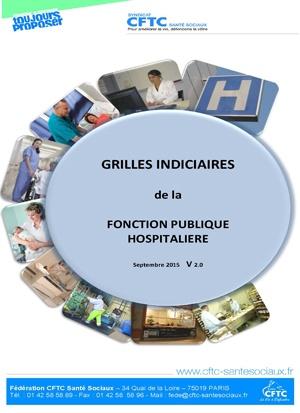 Grilles indiciaires de la Fonction Publique Hospitalière – Septembre 2015
