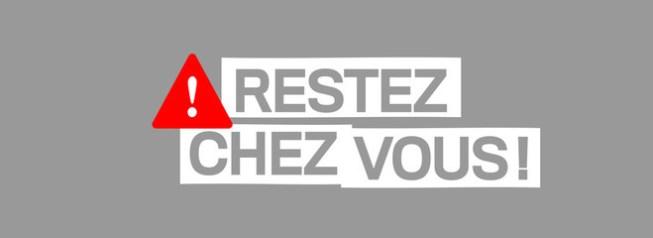 Covid-19 : #RestezChezVous