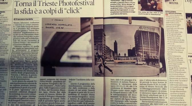 13° TriestePhotoFestival sul quotidiano locale
