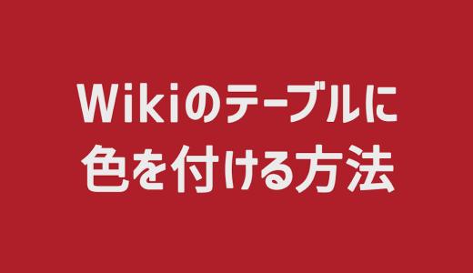 【Redmine】Wikiのテーブルに色を付ける方法
