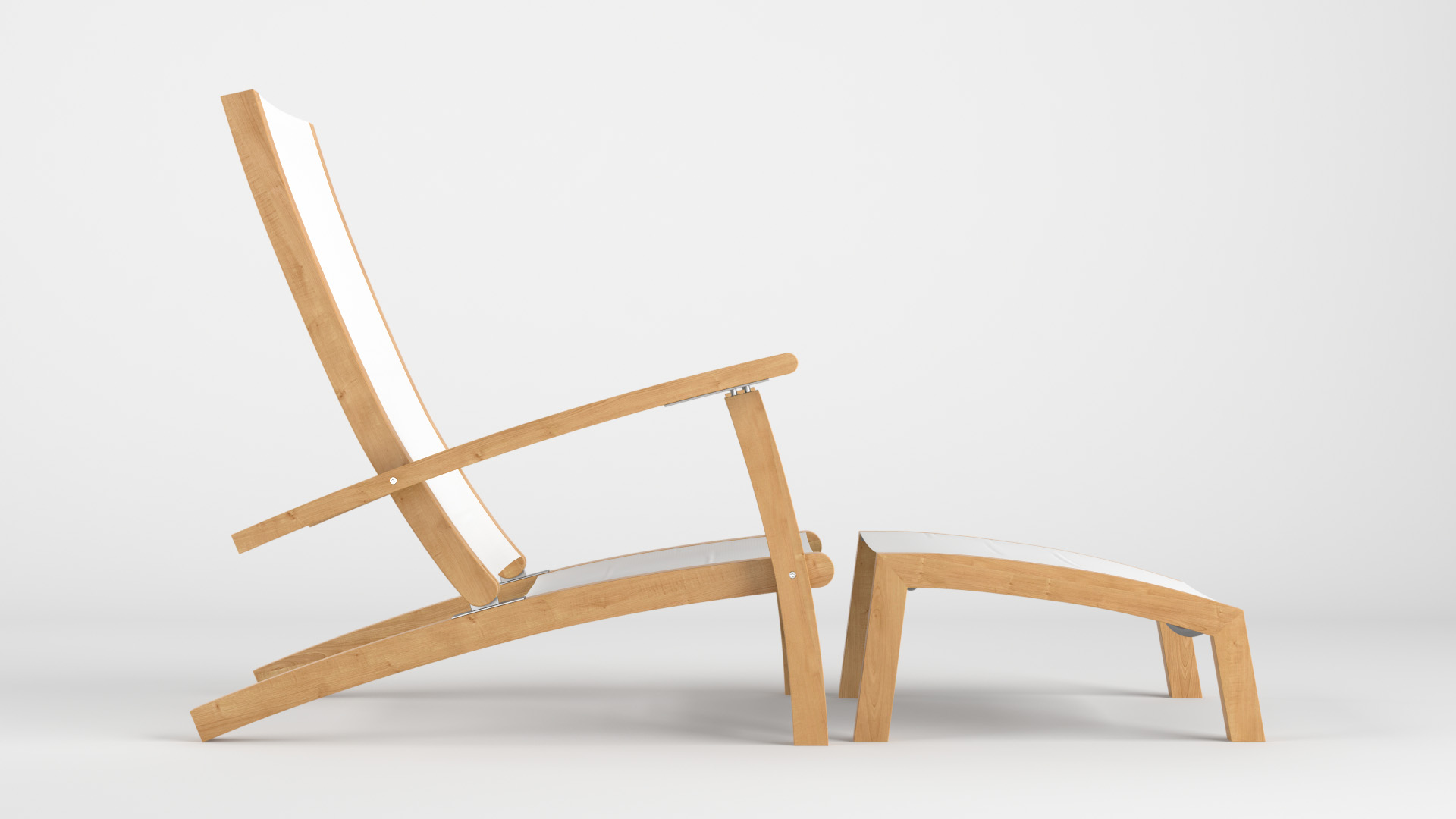 Nomade Easy Chair & Footrest Tribu – CG Projects – 3D Archviz