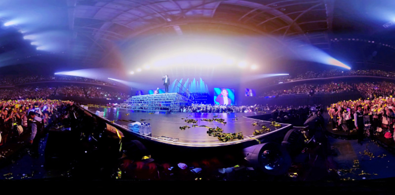 vr360 live streaming for Big Bang band in Macau