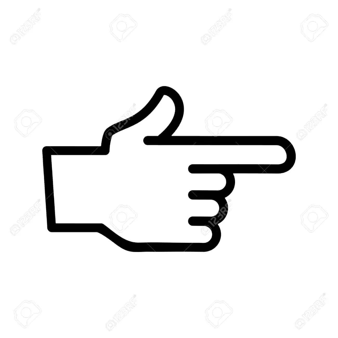 Finger Point Vector Icon Stock Vector Finger