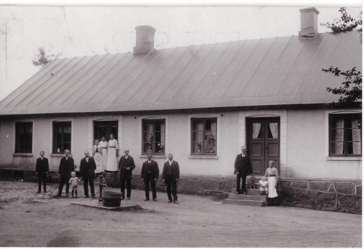 Gille på Vanstad 18 omkring 1915