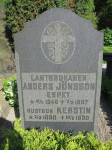 Anders Jönsson (1846-1887) och hustrun Kerstin Eriksdotter (1850-1930) Espet