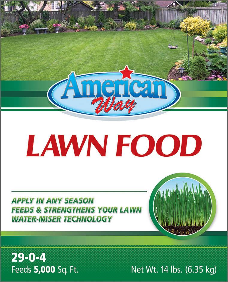 American Way Lawn Food - Package Design