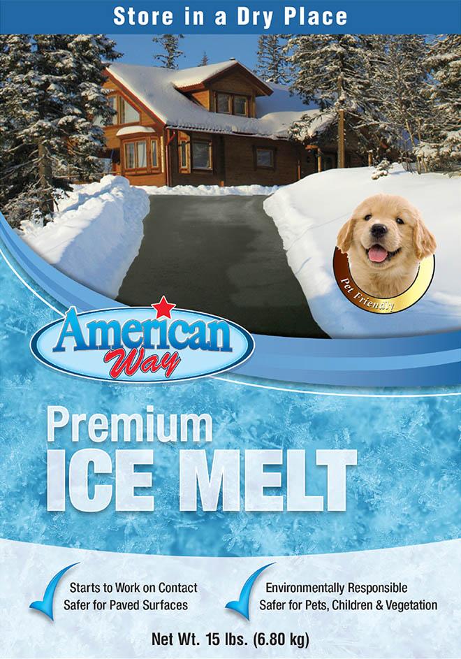 American Way Premium Ice Melt - Package Design