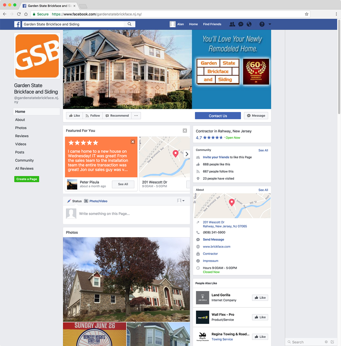 Garden State Brickface And Siding Facebook Page