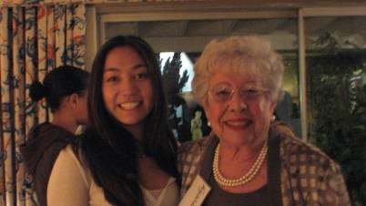Federal Judge Dorothy Nelson and CGIE intern Stephanie Yuan at the home of Nelsons Feb 23, 2011