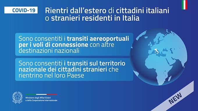Rientri: Connazionali all'estero e stranieri in Italia