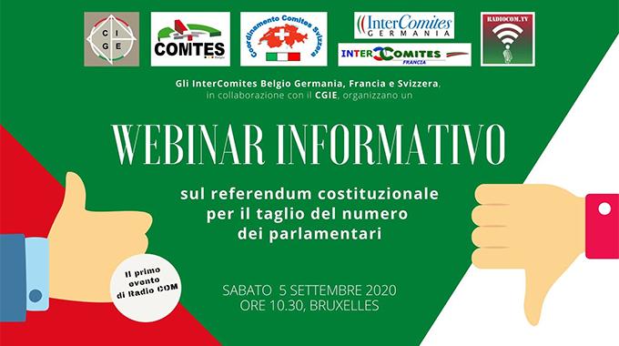 Bruxelles online con Cgie e Comites di Belgio, Germania, Francia e Svizzera