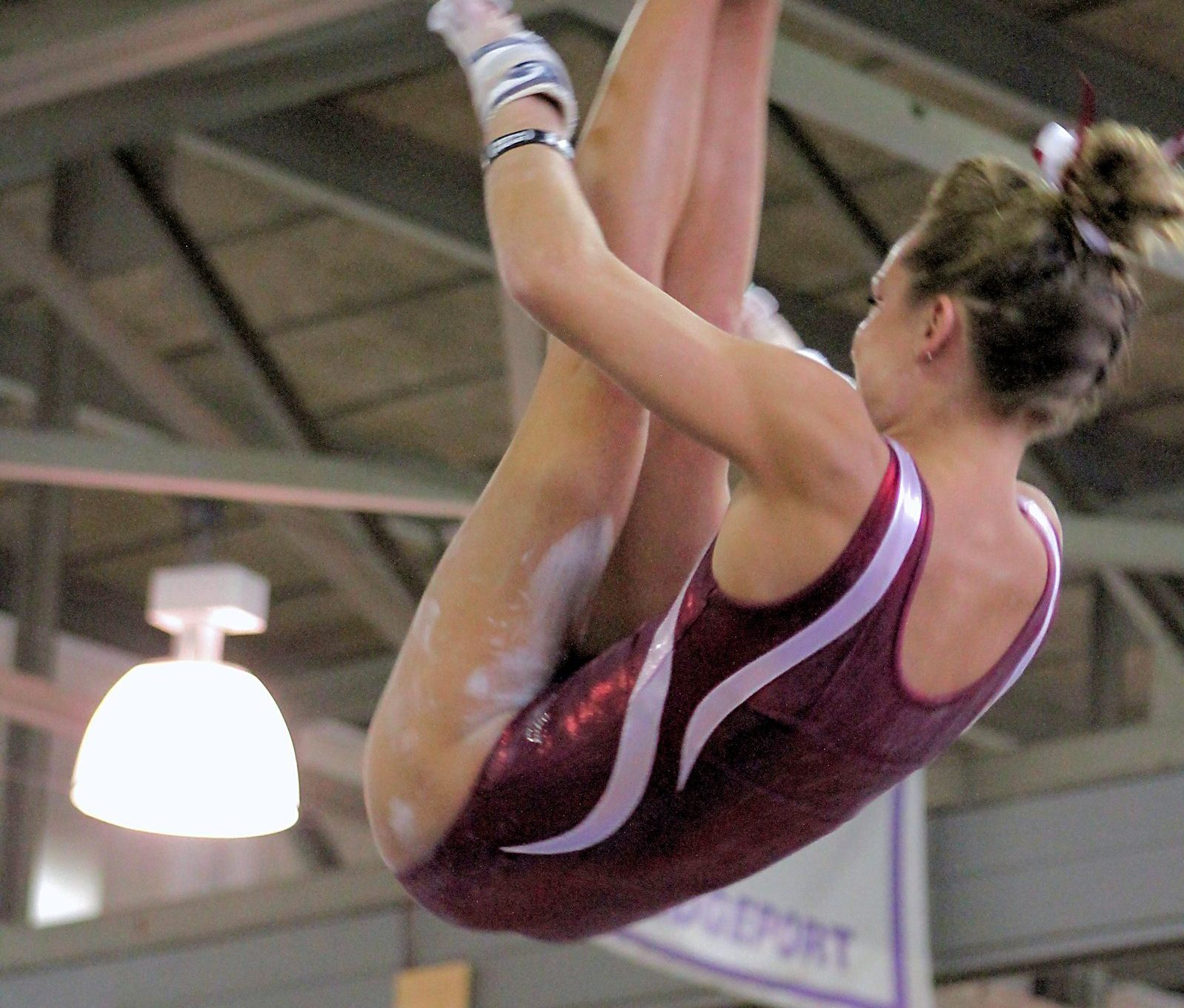 Piked Jaeger - uneven bars - high bar release move