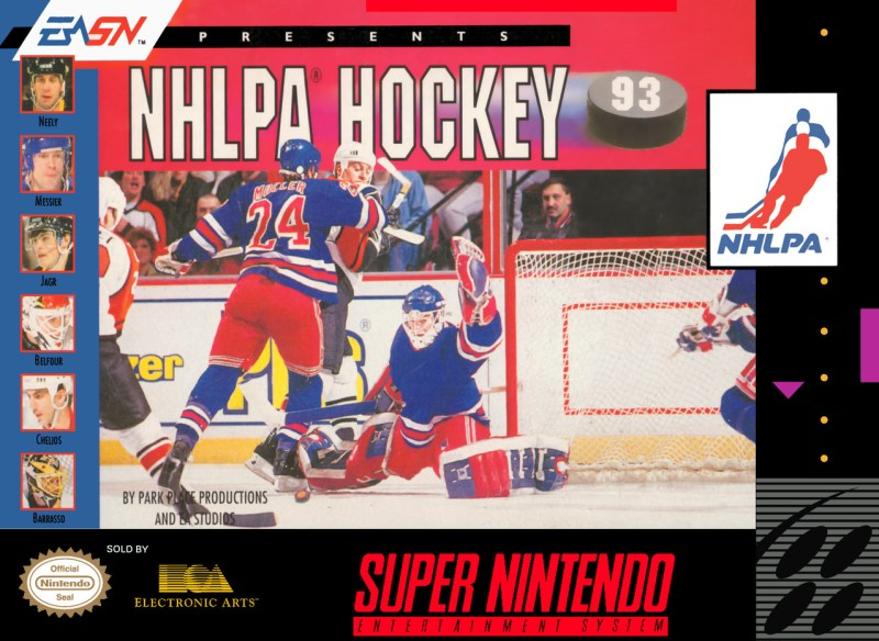 SNES NHLPA Hockey '93: Not up to snuff for Michael Brook. Honestly, it really was a pretty bad game.
