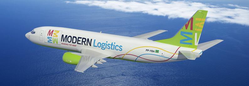 Ilustración de la moderna logística Boeing 737-400F