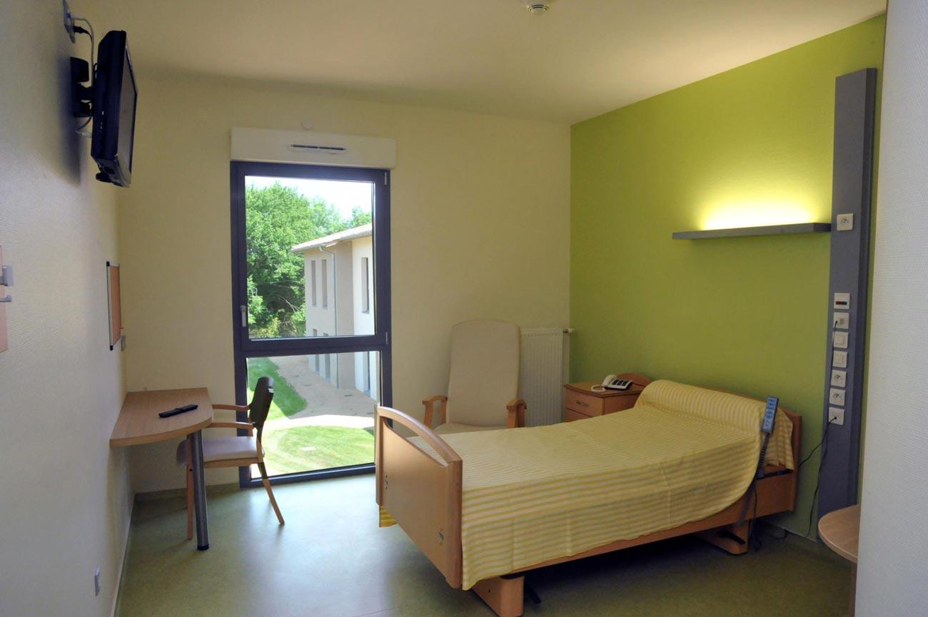 Chambre, quartier des tilleuls - EHPAD de Bazas