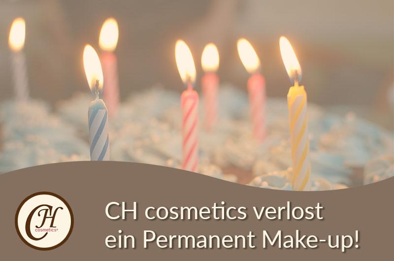 CH cosmetics schenkt Ihnen anlässlich zum 8. Geburtstag ein Permanent Make-up