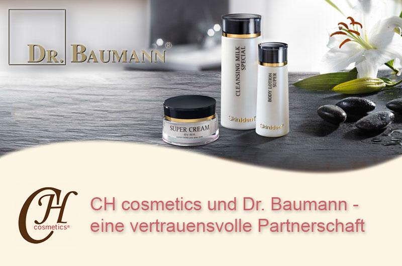 CH cosmetics vertraut den Produkten von Dr. Baumann
