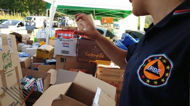 URBE volunteer and donation material
