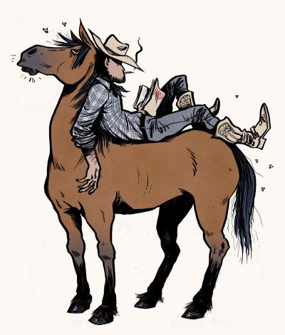 Cheval cowboy