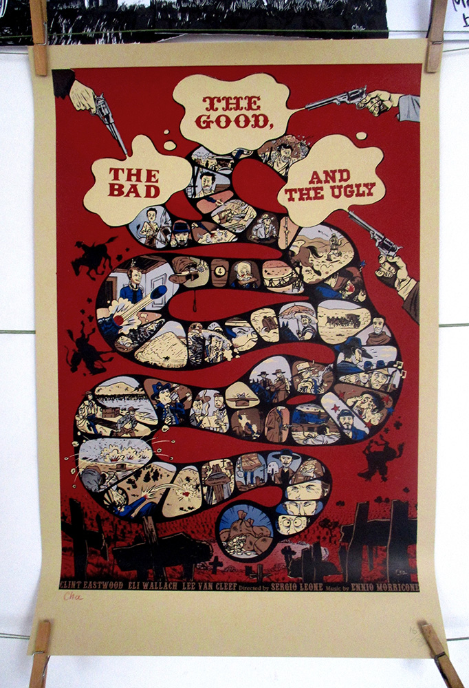 The Good The Bad and The Ugly sérigraphie