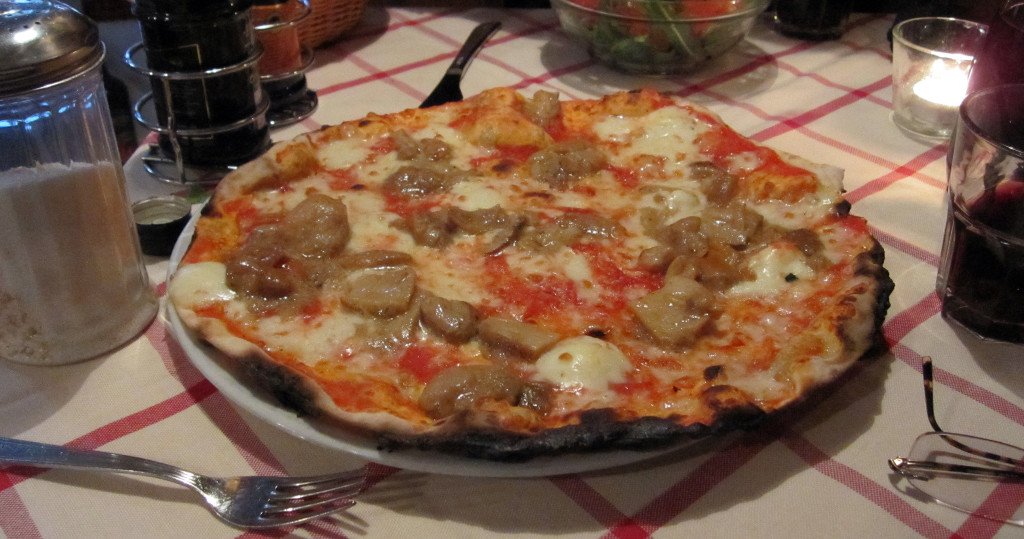 Pizza Topped with Porcini Mushrooms