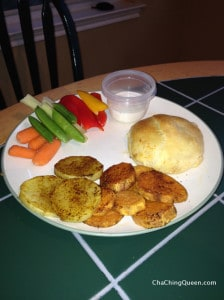 cheesy foldovers veggies potatoes - tonights dinner
